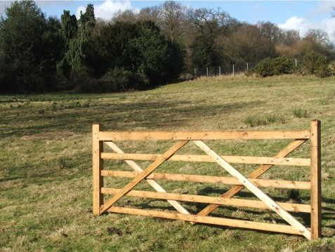 Field Wooden gate