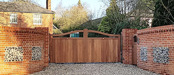 Priory Wooden Driveway Gates